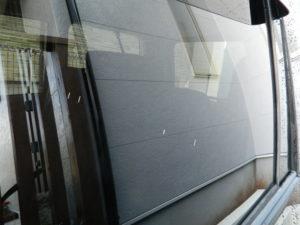 使用後の窓ガラス