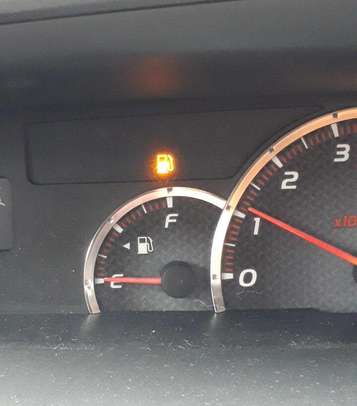 給油ランプの点灯